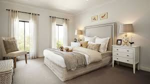 Visualization For Family House With Cream Color Interior In Greenvale Australia Bedroom
