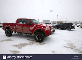100 The Car And Truck Store Truck And Cars Parked In Store Parking Lot In Snowstorm Blizzard