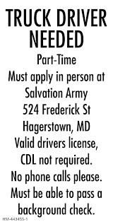 Truck Driver Needed, The Salvation Army, Hagerstown, MD Trucking Industry Faces Labour Shortage As It Struggles To Attract Theres A Tremendous Of Truck Drivers Right Now Heres Truck Drivers For Hire We Drive Your Rental Anywhere In The Carrier Warnings Real Women Job Opportunities Teamsters Local 848 21 Best Is Important Images On Pinterest 22 Infographics Semi Trucks Need Help Move Economy Carebuilder Drivejbhuntcom Find The Best Driving Jobs Near You Tesla Will Still Be Few Years 95 Info Graphics