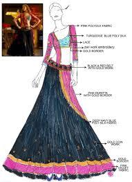 Fashion Design Sketches Of Indian Wedding Dresses Deepika Padukone Ram Leela Black Lehenga