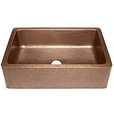 Adams Farmhouse Apron Front Handmade Copper Kitchen Sink 33 in