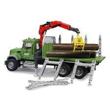100 Bruder Logging Truck Mack Granite Timber With Crane Logs The Gamesmen