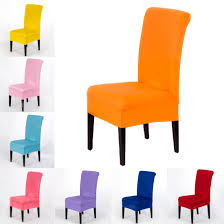 US $3.9 15% OFF|Home Universal Elastic Cloth Chair Covers Weddings  Decoration Solid Colors Party Chair Covers Banquet Dining Chair Covers-in  Chair ... Amazoncom Lovwy Polyester Stretch Spandex Slipcover Chair Decorative Covers Efavormart 10pcs Silky Satin Universal Fits All Us 464 Cover Ding Seat For Wedding Party Decoration Removable Elastic Slipcover24in 20 Pc Ivory Folding Reception Homdox 100pcs White Spandexlycra Metal Plastic For Banquet 100pcs Polyester Spandex Whosale Fitted Cocktail Table Tablecloth Buy Tablecocktail Covertable Buybowie 4 Pcs Washable Slipcovers High Chairs Protective Print Cushion Decor 1pcs Hot Item Supplies Lycra Event Xymbc02