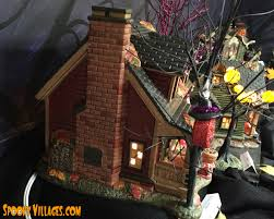 Lemax Halloween Village Displays by Review U2013 Department 56 Halloween Party House U2013 Spookyvillages Com