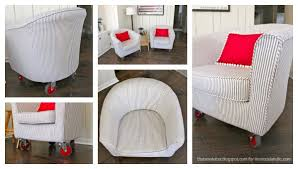 Ikea Tullsta Chair Slipcovers by Remodelaholic How To Reupholster A Tub Chair