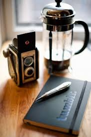 French Press Box Camera And Tumblr Notebook