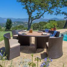 Sirio Patio Furniture Replacement Cushions by Venice 5 Piece Patio Dining Set By Sirio