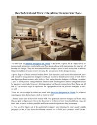 100 Words For Interior Design How To Select And Work With Ers In Thane By