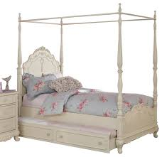 Twin Bed White Twin Canopy Bed