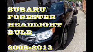 how to change replace headlight bulb in subaru forester 2008 2013