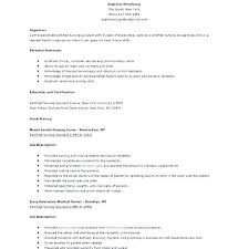 Nursing Assistant Resume Objective Sample Of Aide Template Certified
