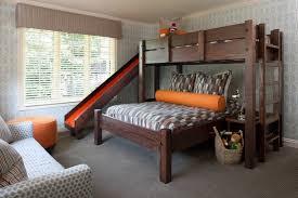 twin over queen bunk bed with slide best twin over queen bunk