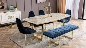 erinnerung esszimmer gloria luxus mobilya set