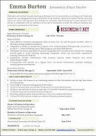 Elementary Teacher Resume Examples Elegant Teaching Beautiful Free Samples Of