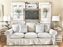 Farmhouse Living Room IKEA Couches With Chippy Doors IG Bless This Nest