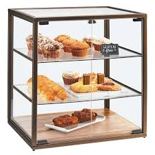 Cal Mil 3610 3 Tier Vintage Bakery Display Case With Wood Base
