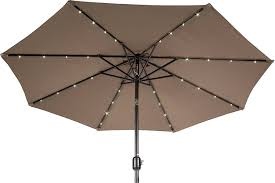 Solar Lighted Offset Patio Umbrella by Amazon Com Trademark Innovations Deluxe Solar Powered Led