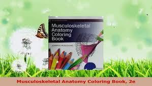 Musculoskeletal Anatomy Coloring Book Free Download E Pdf