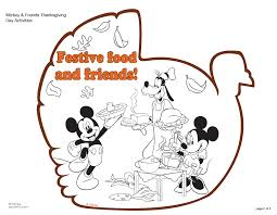 Mickey Mouse Thanksgiving Coloring Pages Online Free Disney