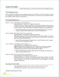 Travel Nurse Resume Awesome Summary Sample Information
