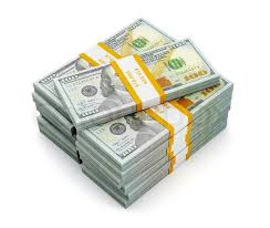 Creative business finance making money concept stack of new new