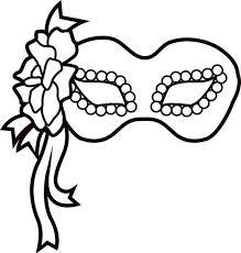 Black And White Elegant Masquerade Mask Clip Printable