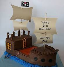 Nice clean form great waves And Everything Sweet Captian Lane s Pirate Ship Cake