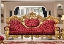 royal gold farbe malen holz sofa mit rot samt materialien abdeckung schwamm sitzkissen wohnzimmer sofa buy gold farbe malen holz sofa wohnzimmer