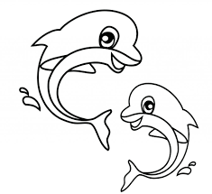 Coloring Pages Printable Sea Dolphin Free For Kids Animals Ocean Swimming Water Worksheets Activities
