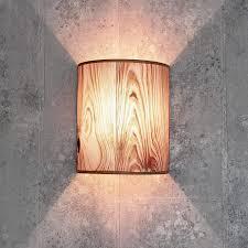 loft wandle stoff schirm halbrund e27 in grau design