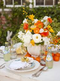 I Love The Use Of Citrus Fruits Lemons And Oranges Here Again Repetition In Flower Arrangement On Table Bottled Beverage
