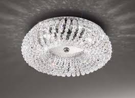 carla small flush ceiling light chrome kolarz lighting