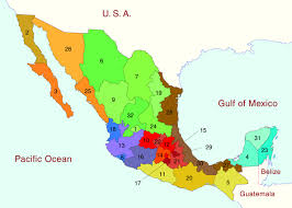 Mexico Maps Click On Map Or State Names For Interactive Of States