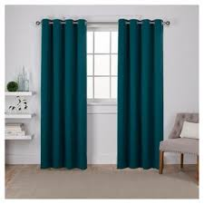 grommets teal curtains target