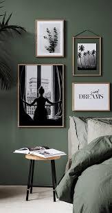 grün im schlafzimmer ist der trend 2018 an der wand