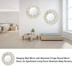 outdoors sky makramee wandspiegel dekorativ für wohnzimmer