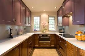 Rustic Varnished Teak Wood Kitchen