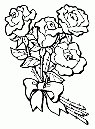 Coloring Sheets Of Bunch Roses
