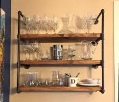 Tutorial Amazoncom Diwhy Modern Wood Ladder Pipe Rustic Industrial Wall Shelves