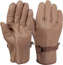brown d 3a type military leather gloves