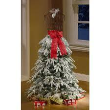 Pre Lit Pencil Christmas Tree Walmart by Christmas Holiday Time Artificialtmas Trees Flocked Dress Form