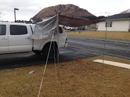 DIY Awning Or Tent Poles - Expedition Portal | Projects To Try ... New Luxury Rooftop Tent For Toyotas Lamoka Ledger Truck Cap Toppers Suv Rightline Gear Bedding End For A Pickup Camper Shell Vs Tacoma Pitch The Backroadz In Your Thrillist Midsize Lance 830 Wtent Topics Natcoa Forum Building A 6x6 Overland Electric By Experience Camping In Dry Truck Bed Up Off The Ground Tent Out West With Vw Van Inspired Roof Vw Camper Meet Leentu 150pound Popup Sportz Compact Short Bed 21 Lbs Tents And Shorts