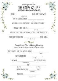 14 Free Fun and Printable Wedding Mad Libs Pinterest