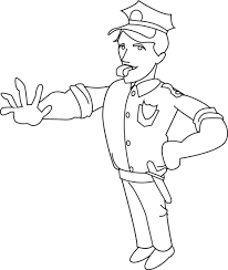 Police ficer Coloring Page Free Clip Art