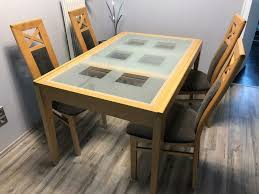esszimmer esstisch tisch ausziehbar 4 stühle buche grau braun