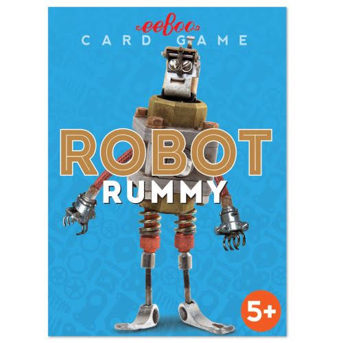 eeBoo Robot Rummy Playing Cards Game