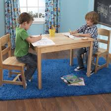 Kidkraft Star Childrens Table Chair Set by Kidkraft Rectangle Table U0026 2 Chair Set Natural Toys