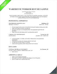 Sample Resume Warehouse Supervisor Job Objectives What To Put In Objective On For General