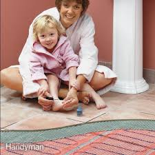 how to install in floor heat bathroom installation spaces and
