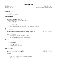 Best Examples Of Resumes Good First Job Resume Template For